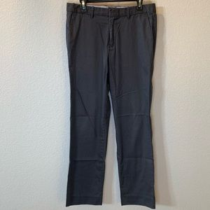 Gap Tailored Straight Fit Striped Grey Khakis